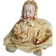 "Vintage Early 1900's K * R Bisque Head 15"" Kaiser Baby Doll"