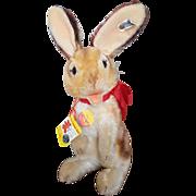 """Vintage 1980's Steiff Teddy Bear Co 14"""" Manni Rabbit"""