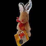 """Vintage 1980's Steiff Teddy Bear Co 5"""" Manni Rabbit"""