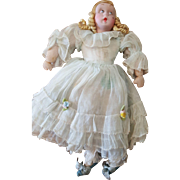 """Vintage 1940's Italy Alberani Mecchiotti Doll 8"""" with Tag"""
