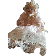 "Doll Artist Kathi Clarke 5 1/2"" Needle Sculpted Baby Doll ALYSIA"