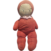 "Vintage 1920's Rose O'Neill 17"" Cloth Cuddle Kewpie Doll"