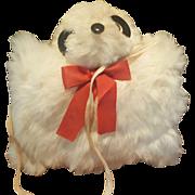 Vintage 1950's Panda Teddy Bear Fur Muff