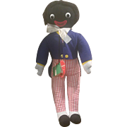 "1950's Dean's Rag Childsplay 20"" Musical Golliwog Doll with Tag MINT"