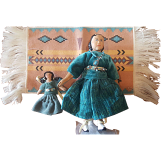 """Wood Folk Art Judy Brown HITTY Comes to Albuquerque 6"""" Doll"""
