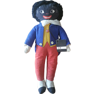 Vintage 1950's Deans Rag Golliwog Doll with Tag