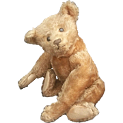 "Antique 1915 Steiff 15 1/2"" Apricot Honey Mohair Teddy Bear"