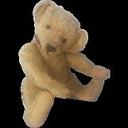 """Vintage 1920's Ideal Mohair Teddy Bear 15"""""""