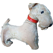 Vintage 1920's Mohair Terrier Dog
