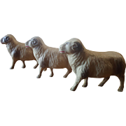 Vintage 1930's Celluloid Sheep Ram Lot