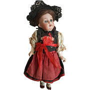 "Adorable Petite 6 1/2"" A.M. Bisque Head Doll"