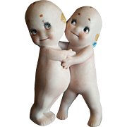 Vintage Rose O'Neill All Bisque Kewpie Hugger Dolls