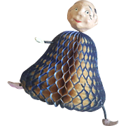 Vintage 1940's Made in Japan Comical Man Honeycomb Doll