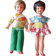 """Vintage 3"""" Doll House Dolls Made in Western Germany"""
