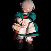 """Adorable 8 1/4"""" Stockingnet Becassine Doll"""