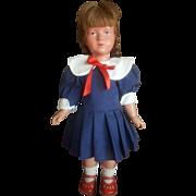 "Vintage 18"" Celluloid Kathe Kruse Doll All Original"
