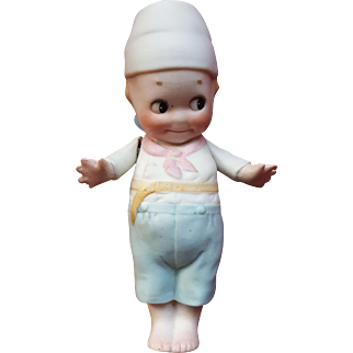 Antique 1915 Rose O'Neill Dutch Boy Bisque Kewpie Doll