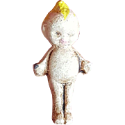 Tiny Metal Rose O'Neill Kewpie Doll Cracker Jack Toy
