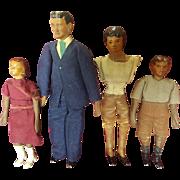 Vintage Dollhouse Doll House Doll Family