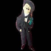 Vintage 1930's Cloth Charlie Chaplain Tramp Doll