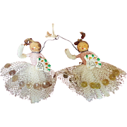 Tiny Doll House Doll or Feather Tree Angel Ornaments