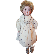 "Cute 11"" Armand Marseille Bisque Shoulder Head Doll"