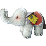 """Vntage 1950's Steiff 3"""" Elephant with Button"""