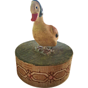 Vintage Easter Duck Candy Container