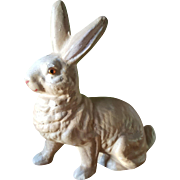 """Vintage 6 1/2"""" German Easter Rabbit Candy Container"""
