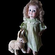 "Antique 1915 Adorable 12""  323 A.M. Googly Bisque Doll"