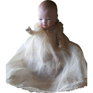 "Antique All Bisque 1915 German 4"" Grace Putnam Bye-Lo Baby Doll"