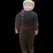 Vintage Bisque Shoulder Head School Boy Doll