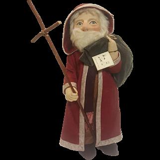"Early R. John Wright St. Nicholas Santa Claus 17""  Doll"