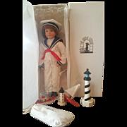1996 U.F.D.C. Norfolk Sailor Doll by Maryanne Oldenburg Mint in Box