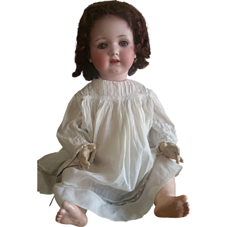"Vintage Armand Marseille 24"" German MELITTA Bisque Head Baby Doll"