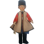 "Vintage 1928 Italian Lenci Doll Series 900 Ethnic Regional Costume Boy 14"""