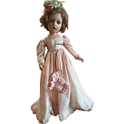 "1930's Madame Alexander 21"" Wendy Bridesmaid Doll"