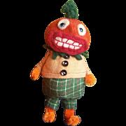 Adorable Artist Jodi Battaglia Halloween Pumpkin BOO Felt Doll