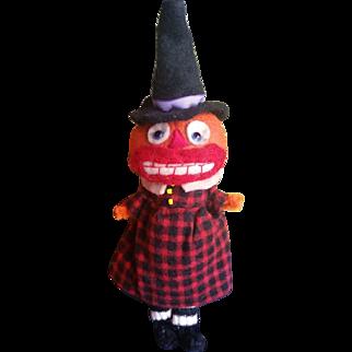 Adorable Artist Jodi Battaglia Halloween Pumpkin Witch BOO Felt Doll