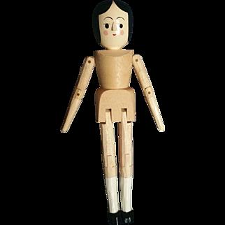 "Doll Artist Eric Horne 5"" Wood Peg Jointed Doll"