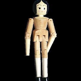 "Doll Artist Eric Horne 3"" Wood Peg Jointed Doll"