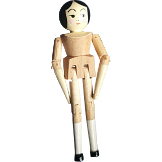 "Doll Artist Eric Horne 2"" Wood Peg Jointed Doll"
