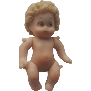"""Doll Artist Teeny Tiny 7/8"""" Jointed Bisque Doll"""