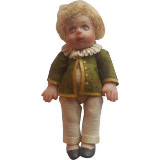 Vintage Doll Artist Miniature All Bisque Doll