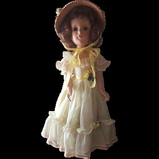 """Vintage 1937 Madame Alexander 18"""" Composition Princess Margaret Rose Doll"""