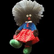 "Miniature Artist 3 1/2"" Golliwog Velvet Doll"