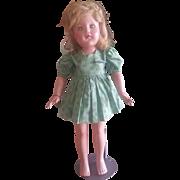 "Vintage 22"" Composition Effanbee Anne Shirley Doll w Bracelet"