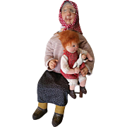 Vintage Dianne Dengel Grandmother with Child & Doll