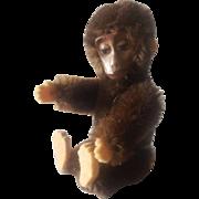 """Vintage 1930's Schuco Teddy Bear Co. 3 1/2"""" Mohair Monkey"""