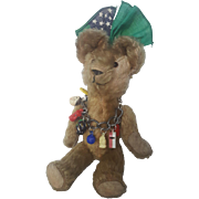 Vintage 1920's Mohair Teddy Bear 11' From the Blackler Collection